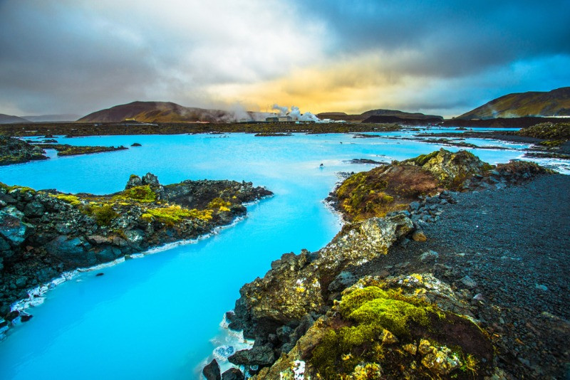 the world famous Blue lagoon in the Reykjanes Peninsula