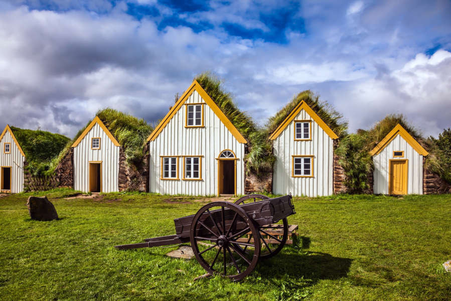 Beautiful turf houses in northern Iceland