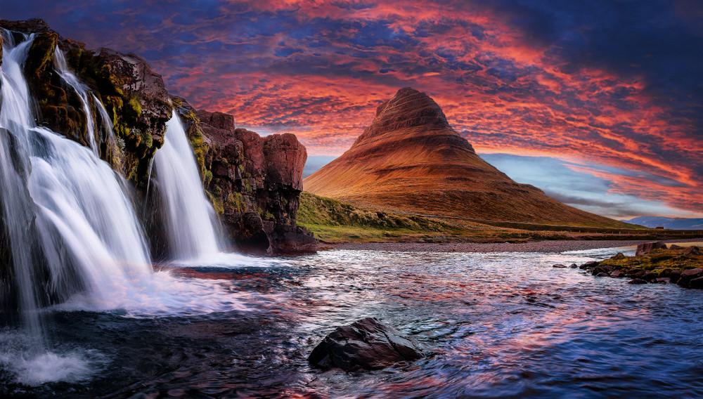 Kikjufell, nella regione meridionale dell'Islanda