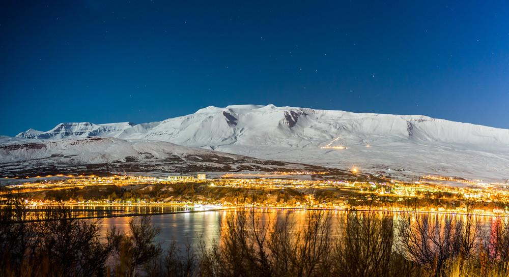 vista sul fiordo di Akureyri
