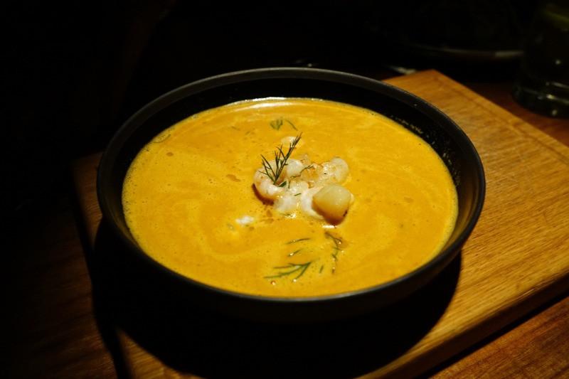 Icelandic traditional soup at a reykjavik restaurant
