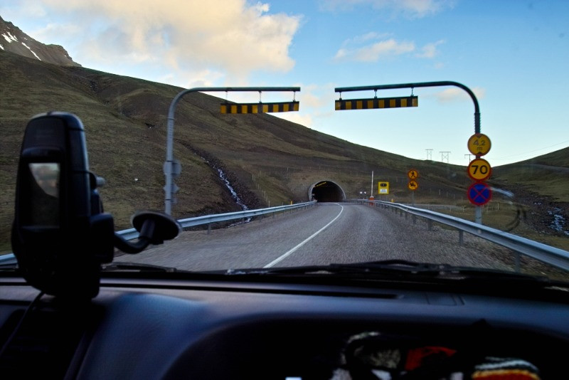 iceland toll road - the only toll applied to a tunel as the one shown in the picture
