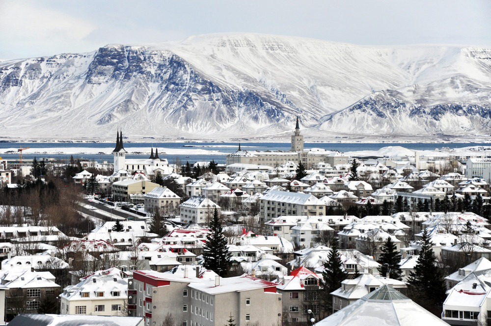 reykjavik, iceland in winter