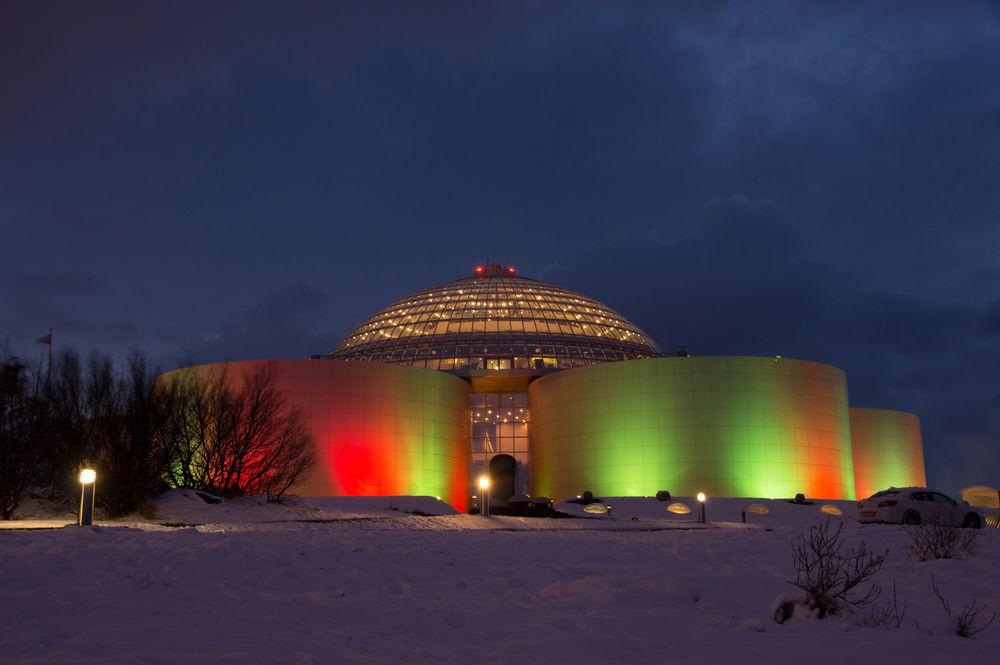 Museo de Perlan al anochecer, Reikiavik