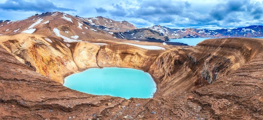 Askja, nella regione settentrionale dell'Islanda