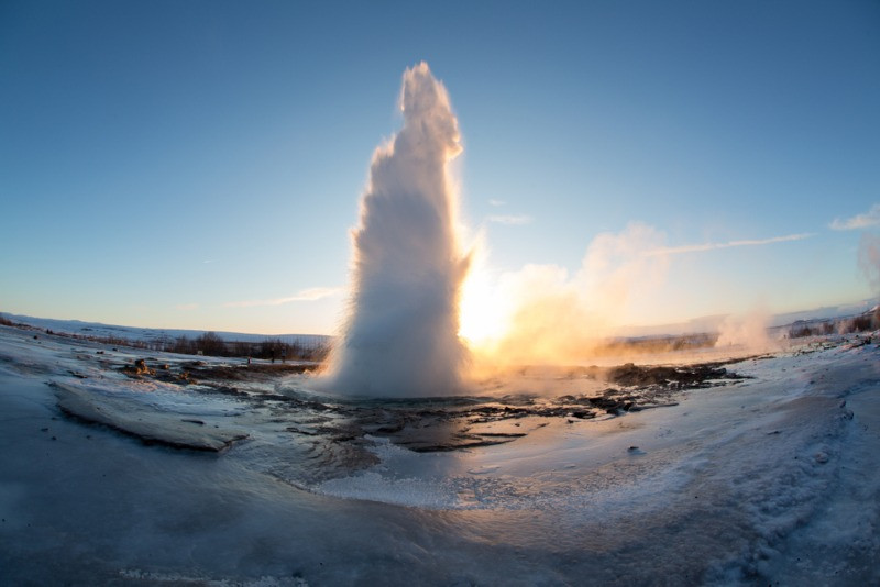 Strokkur geysir, part of the Golden Circle, one of the coolest routes in Iceland.