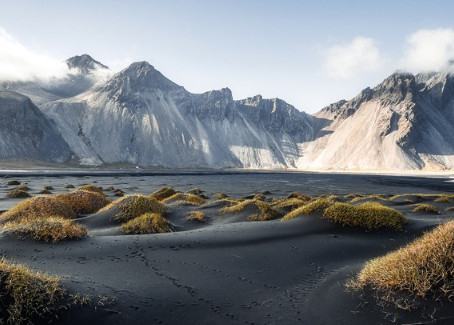The Abrupt Vestrahorn Mountain
