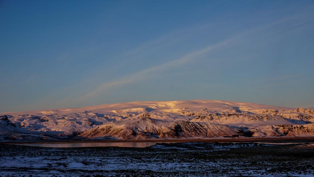 Katla vulcano coperto di neve