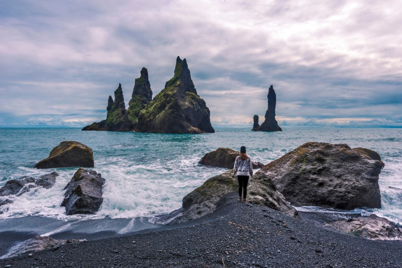 Reynisdrangar in the south coast of Iceland with some eerie stories