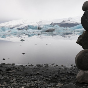 Building Cairns in Iceland