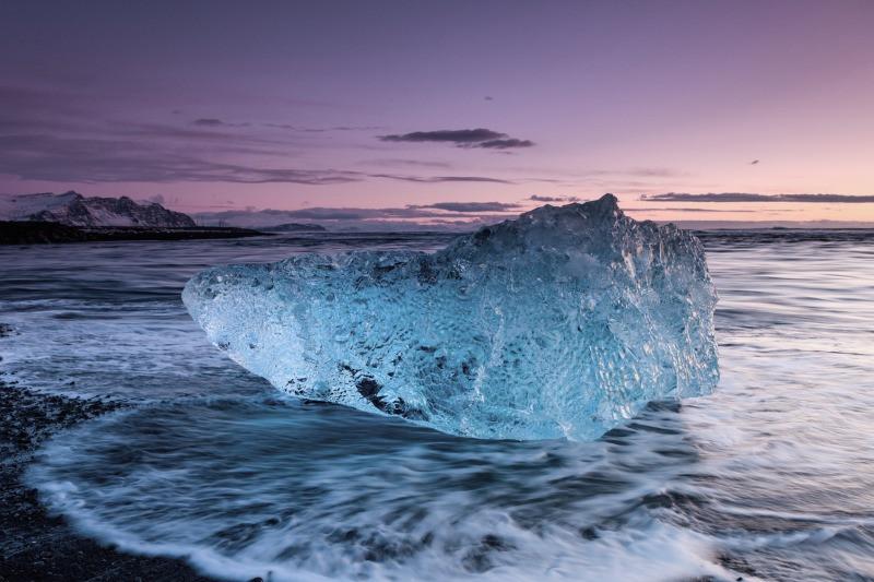 Iceland Diamond Beach has chunks of ice the size of SUVs