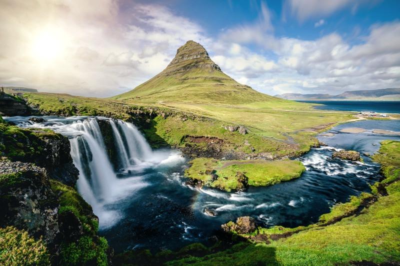 Reykjavik day trips like Snaefellsnes peninsula with Kirkjufell mountain and Kirkjufellsfoss