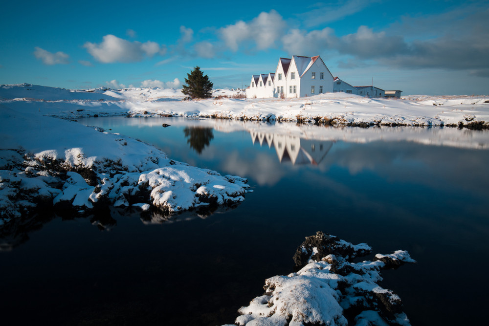 small town in the Reykjanes peninsula