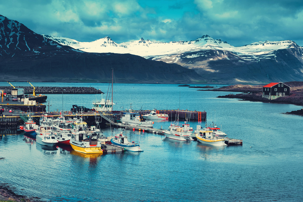 siglufjordur port in the Trollaskagi peninsula