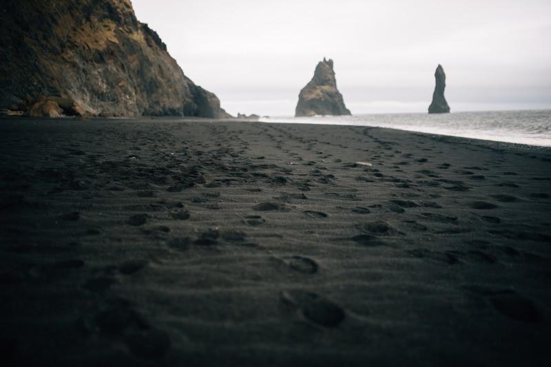 The black sand beach in Iceland Reynisfjara