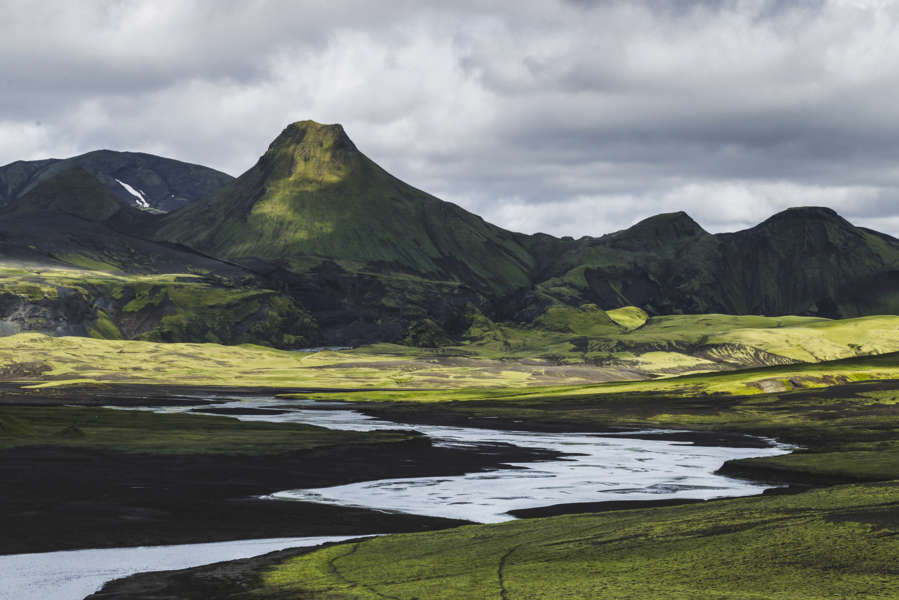 Stunning views of Lakagigar in Iceland, a volcanic landscape