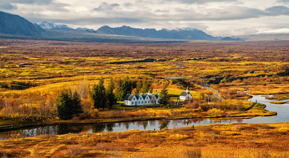Colores del otoño en el paisaje - Clima en Islandia
