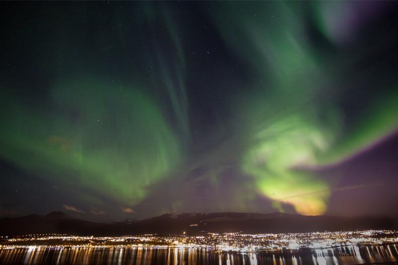 Akureyri Iceland Northern Lights