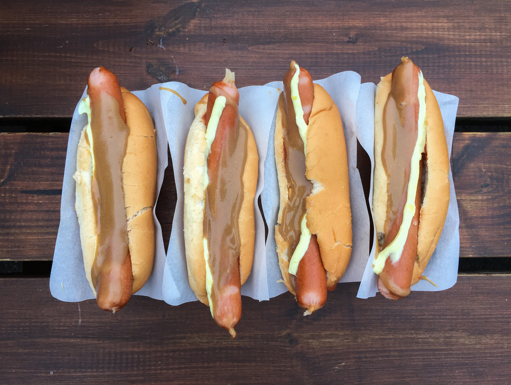 Hot dogs, a famous dish within the icelandic food options
