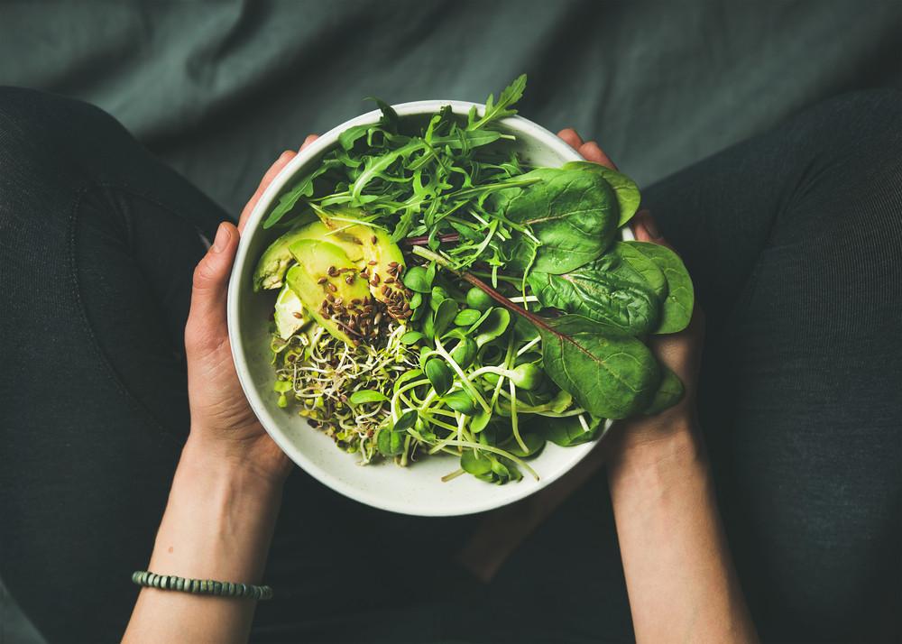 Vegetarian bowl of delicious food