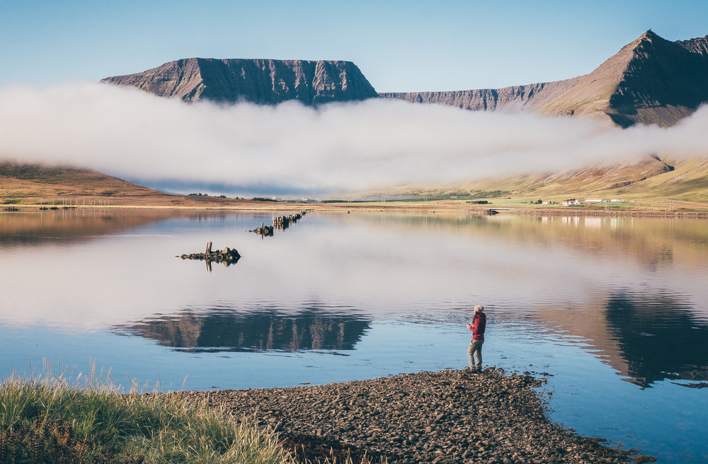 Views you get to see when driving the Westfjords in Iceland, beautiful cliffs.