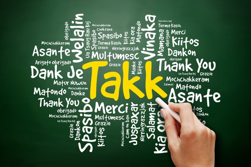 Takk means thank you in the Iceland language