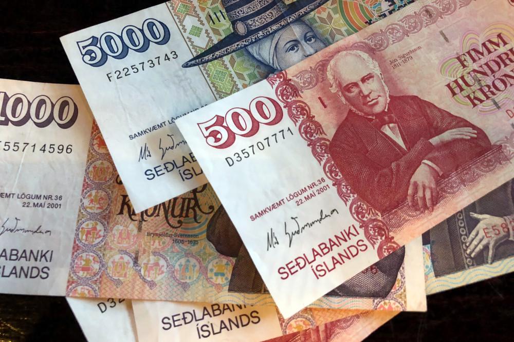 bancanota moneta islandese
