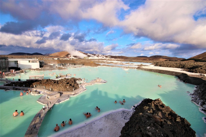 milky waters of the Blue Lagoon in Iceland