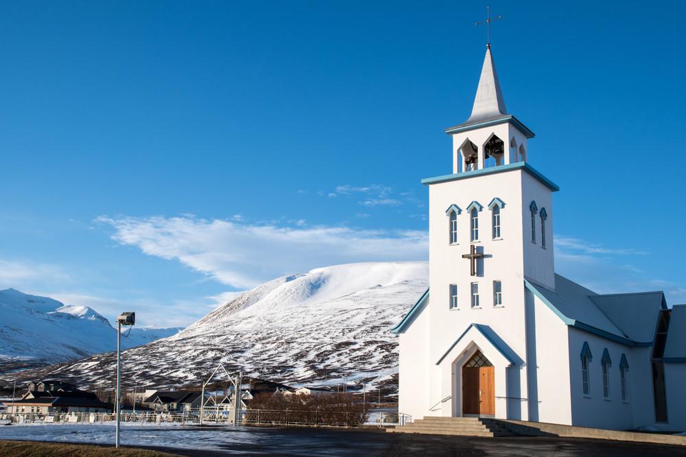 Dalvik main church in the city center