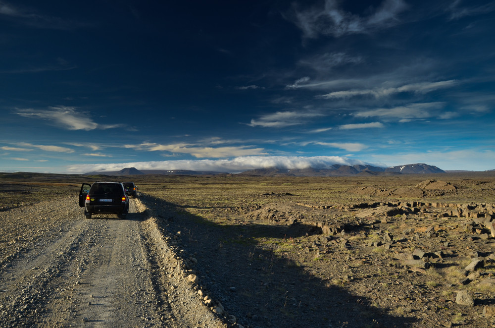 unpaved 4x4 road in Iceland