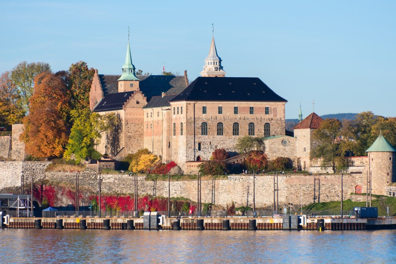 The mighty Akershus Fortress in Oslo, Norway
