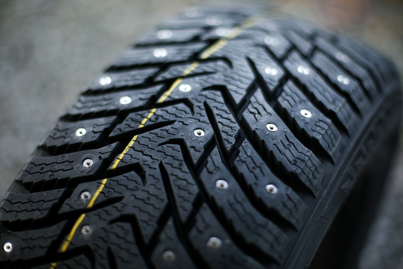 studded winter tires for rental vehicles