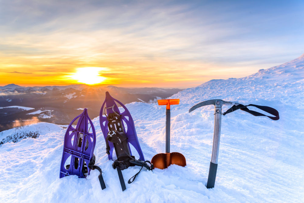 Equipment for a glacier walk in Iceland