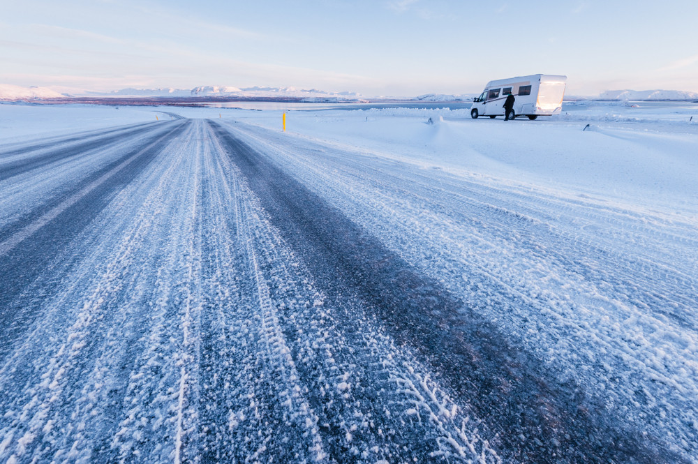snowy landscape in Iceland -Driving a Motorhome in Iceland