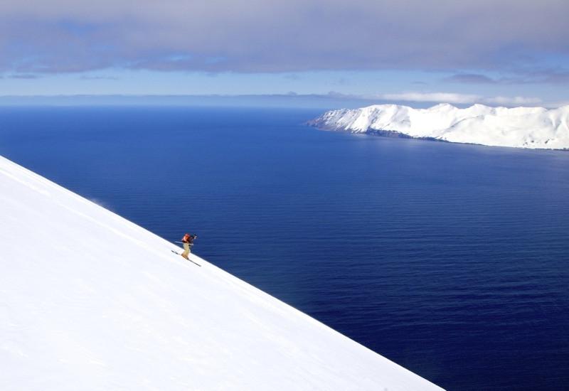 The mesmerizing views of the snowy slopes of Dalvik ski station