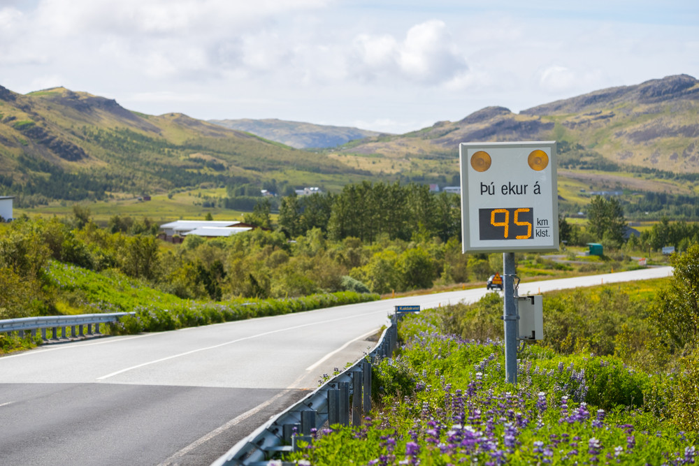 speed camera on and icelandic road - speeding fines in Iceland