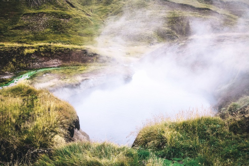hot spots at Reykjadalur valley