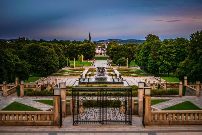 The Frogner Park is one of the most beautiful place in Oslo, the capital of Norway