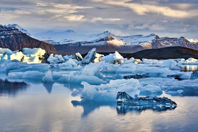 The Diamond Beach Iceland gets its icebergs from Jokulsarlon glacier lagoon