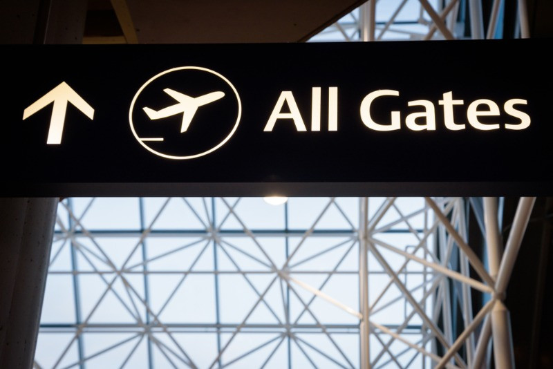 Gates sign at the airport - what to do around KEF Airport