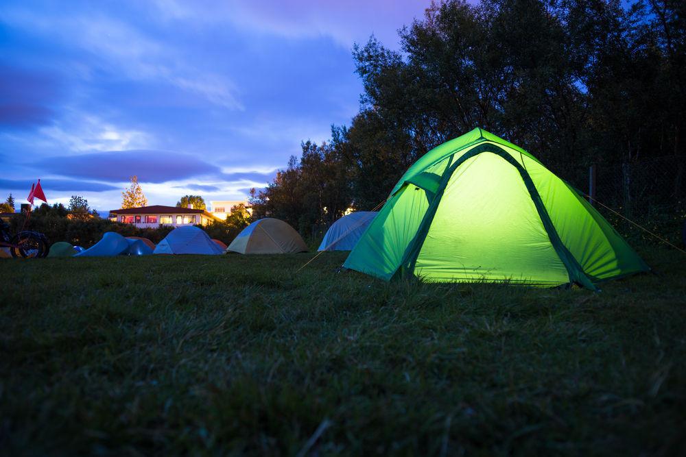 Reykjavik Campsite at dawn