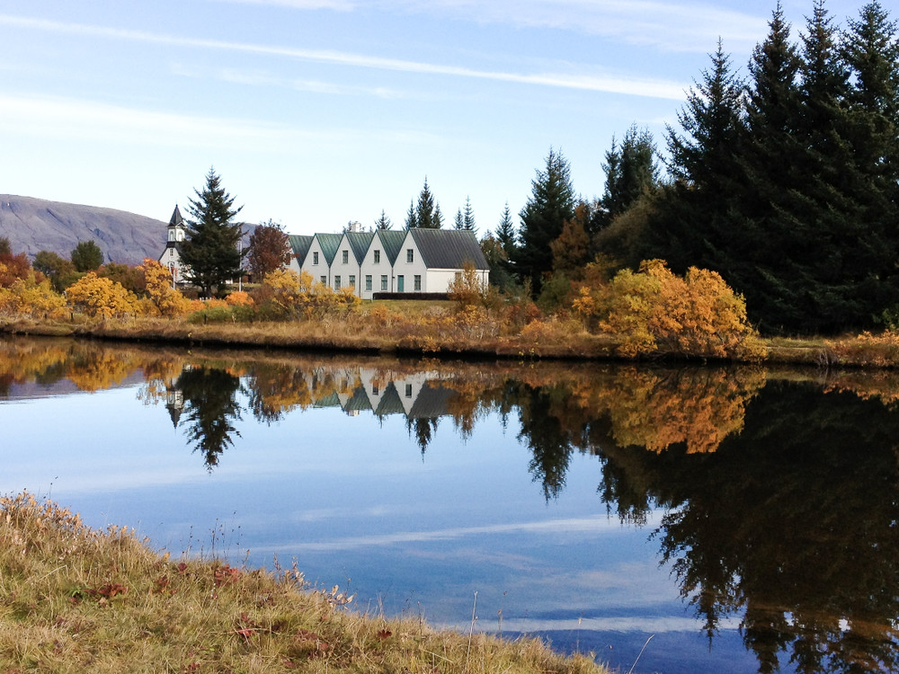ex parlamento nel parco nazionale di Thingvellir