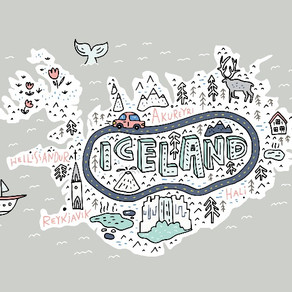 Map of Iceland: The Trip of a Lifetime