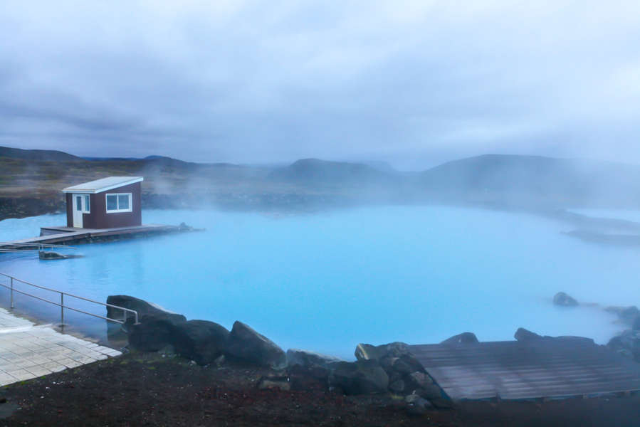 beautiful turquoise waters of Myvatn nature baths