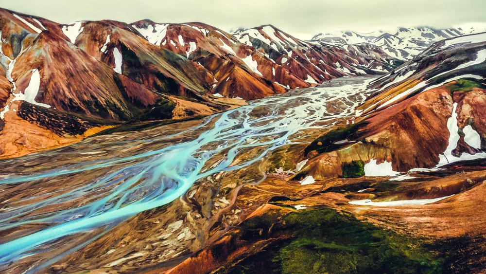 paesaggio mozzafiato di landmannalaugar, Islanda