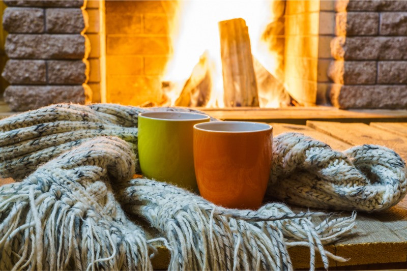 Best winter vacations and a cozy fireplace