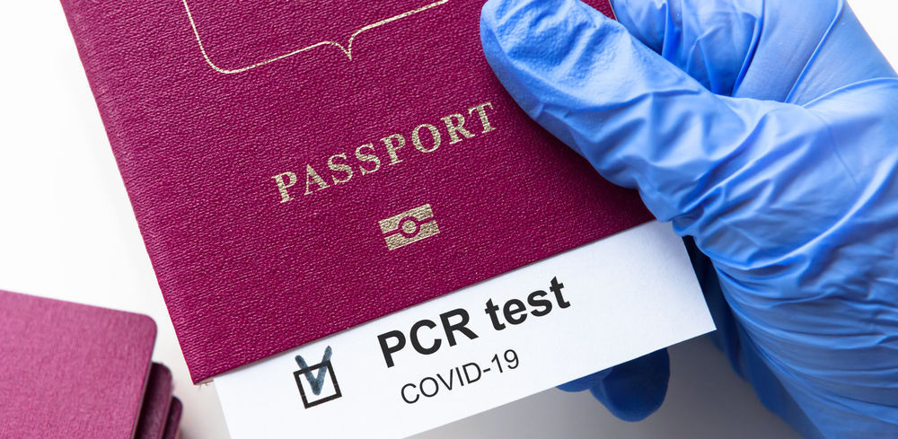 PCR test certificate on passport as an Iceland covid19 travel requirement