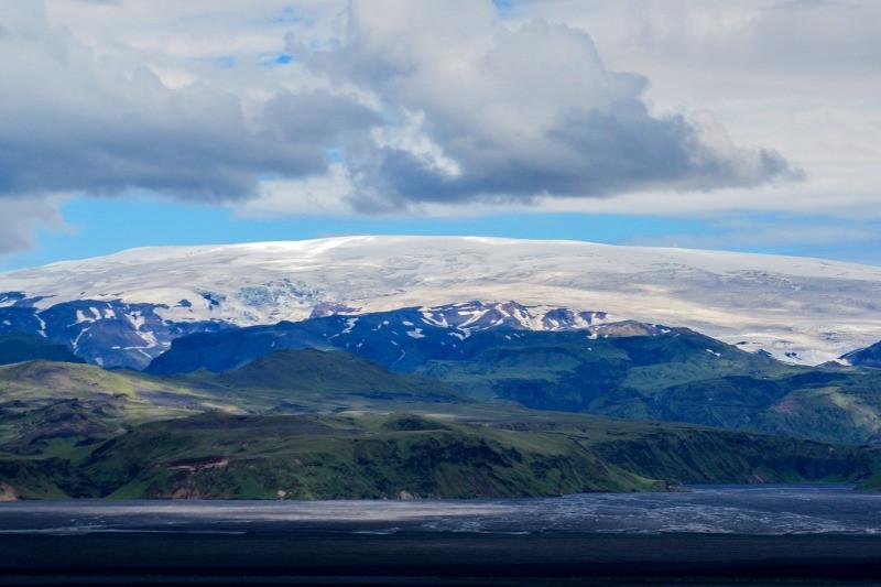 Katla volcano and Myrdalsjokull glacier