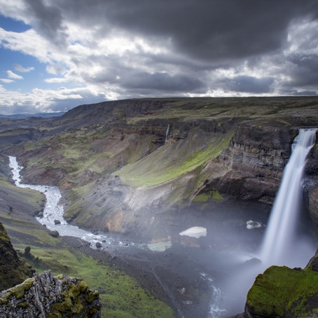 Haifoss Waterfall - One of Iceland's Tallest Waterfalls