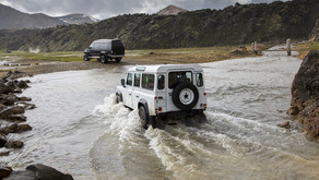 Crossing rivers in Iceland with a camper